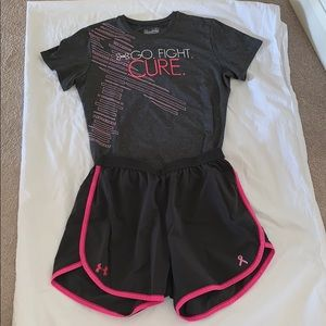 Under Armor Breast Cancer awareness workout set